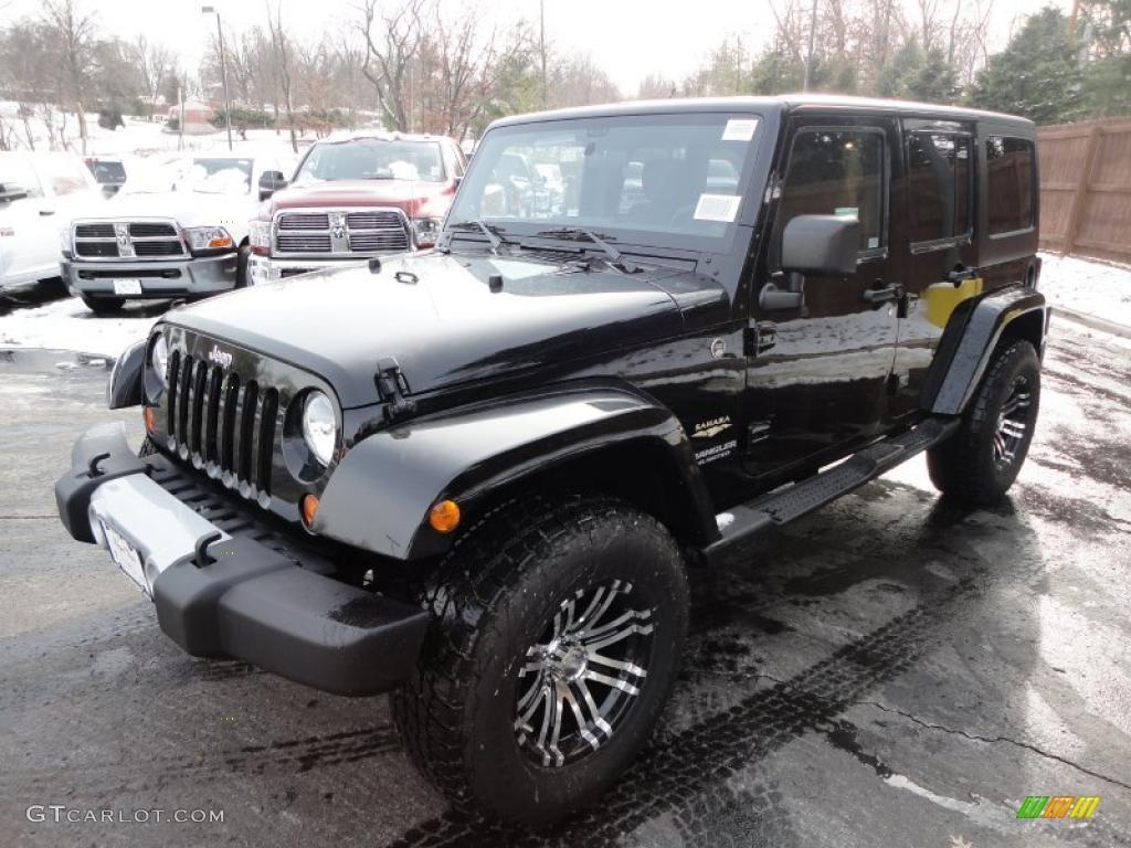 black 2011 jeep wrangler unlimited sahara 4x4 exterior. Black Bedroom Furniture Sets. Home Design Ideas