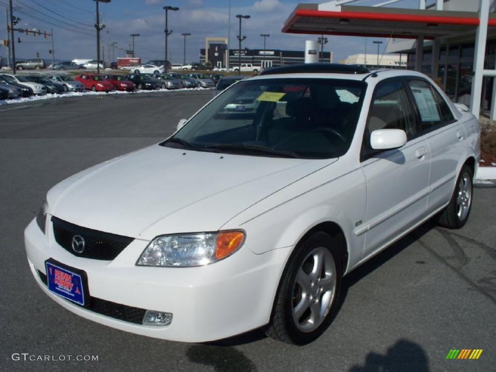 2002 pure white mazda protege es #42990497 | gtcarlot - car