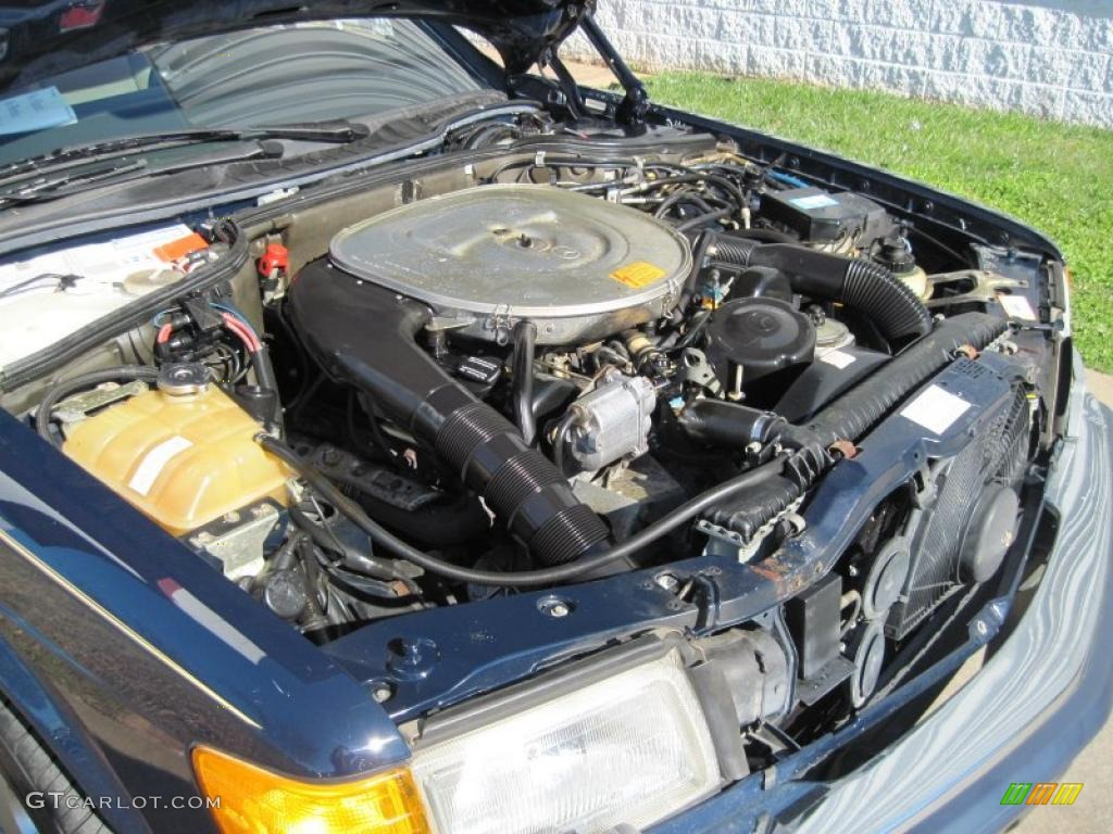 1991 mercedes benz s class 560 sec coupe 5 6 liter sohc 16 for Mercedes benz v8 engine