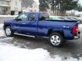 2011 Laser Blue Metallic Chevrolet Silverado 1500 LT Extended Cab 4x4  photo #4