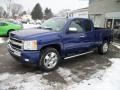 2011 Laser Blue Metallic Chevrolet Silverado 1500 LT Extended Cab 4x4  photo #5