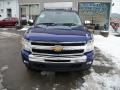 2011 Laser Blue Metallic Chevrolet Silverado 1500 LT Extended Cab 4x4  photo #6