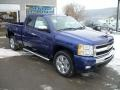 2011 Laser Blue Metallic Chevrolet Silverado 1500 LT Extended Cab 4x4  photo #7