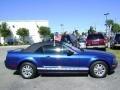2007 Vista Blue Metallic Ford Mustang V6 Deluxe Convertible  photo #2