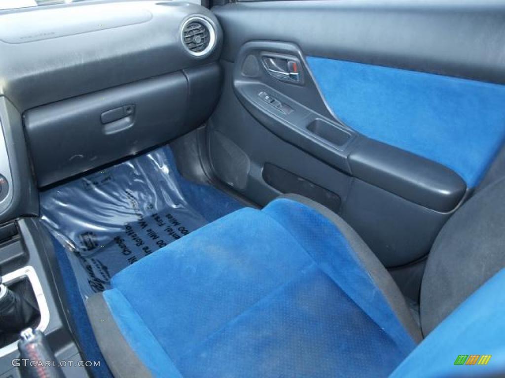 Blue Ecsaine Black Interior 2004 Subaru Impreza Wrx Sti Photo 43140624