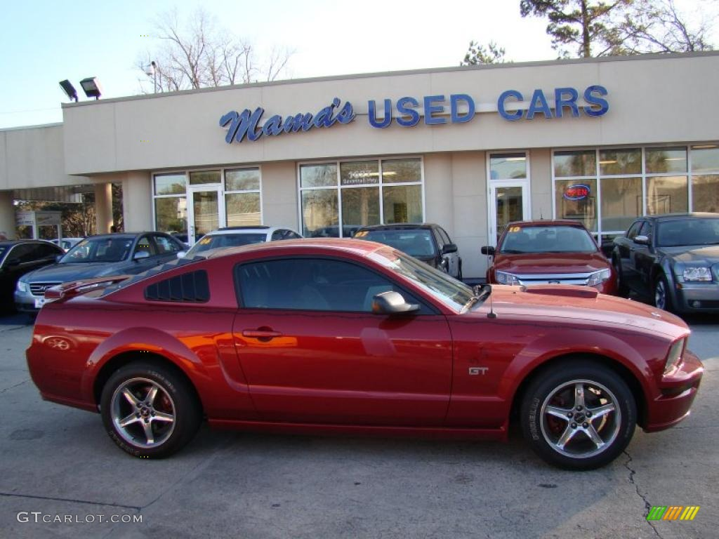2006 Mustang GT Premium Coupe - Redfire Metallic / Light Graphite photo #1