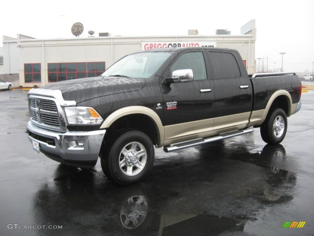 2011 ram 2500 hd laramie crew cab 4x4 brilliant black crystal pearl light pebble