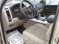 Light Pebble Beige/Bark Brown 2011 Dodge Ram 1500 Interiors