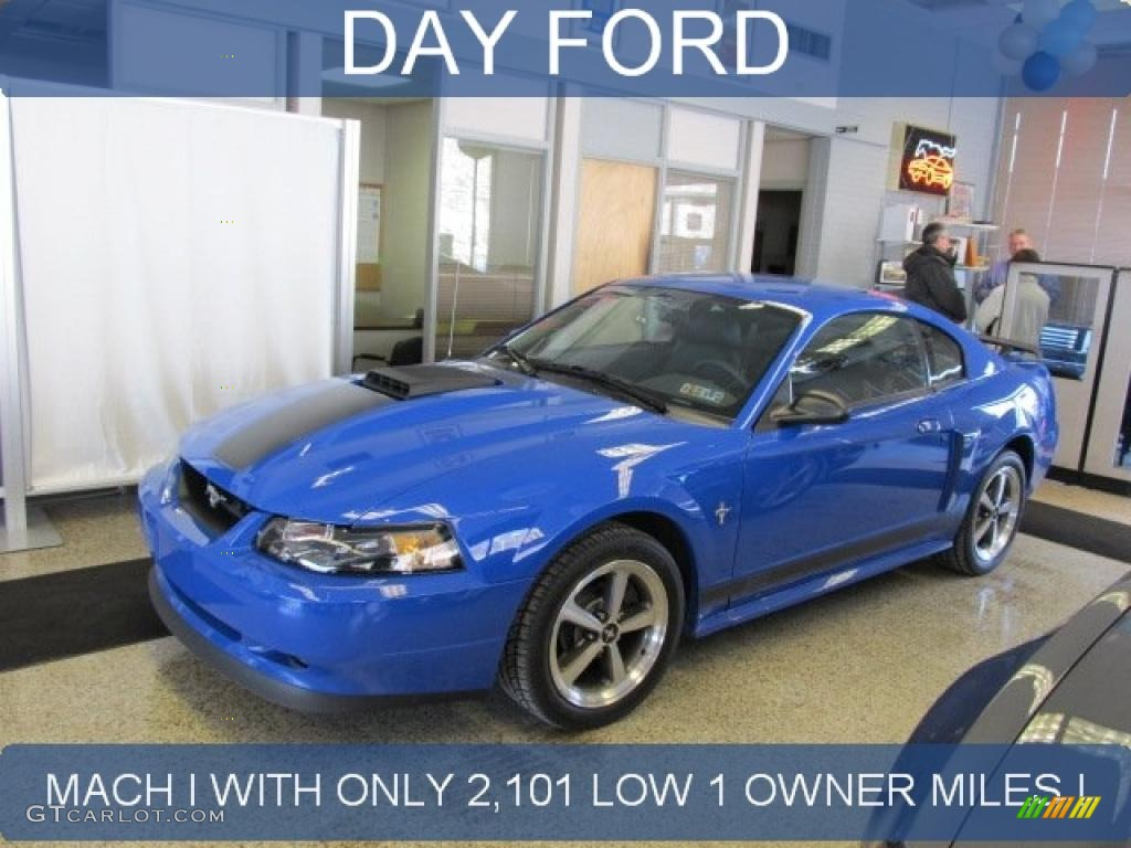 2003 Azure Blue Ford Mustang Mach 1 Coupe 43184627 Gtcarlot Com Car Color Galleries