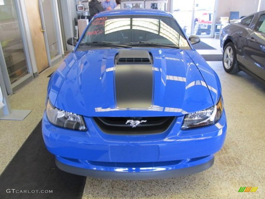 azure blue 2003 ford mustang mach 1 coupe exterior photo. Black Bedroom Furniture Sets. Home Design Ideas