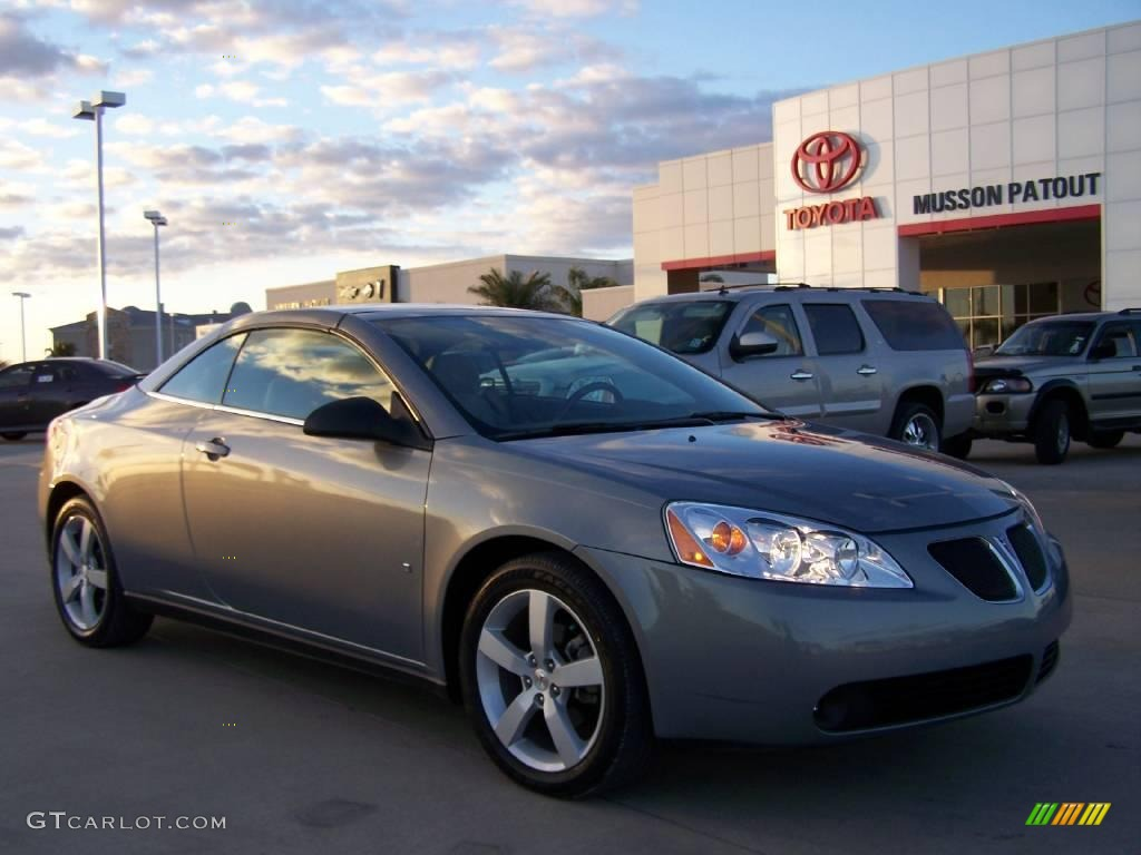 2007 Dark Steel Gray Metallic Pontiac G6 Gt Convertible