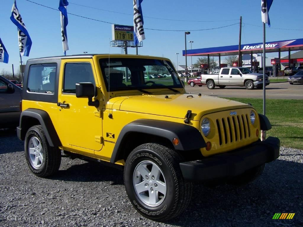 2008 Detonator Yellow Jeep Wrangler X 4x4 4312910 Gtcarlot Com
