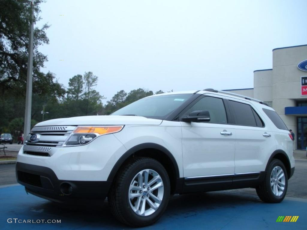 White Suede Ford Explorer