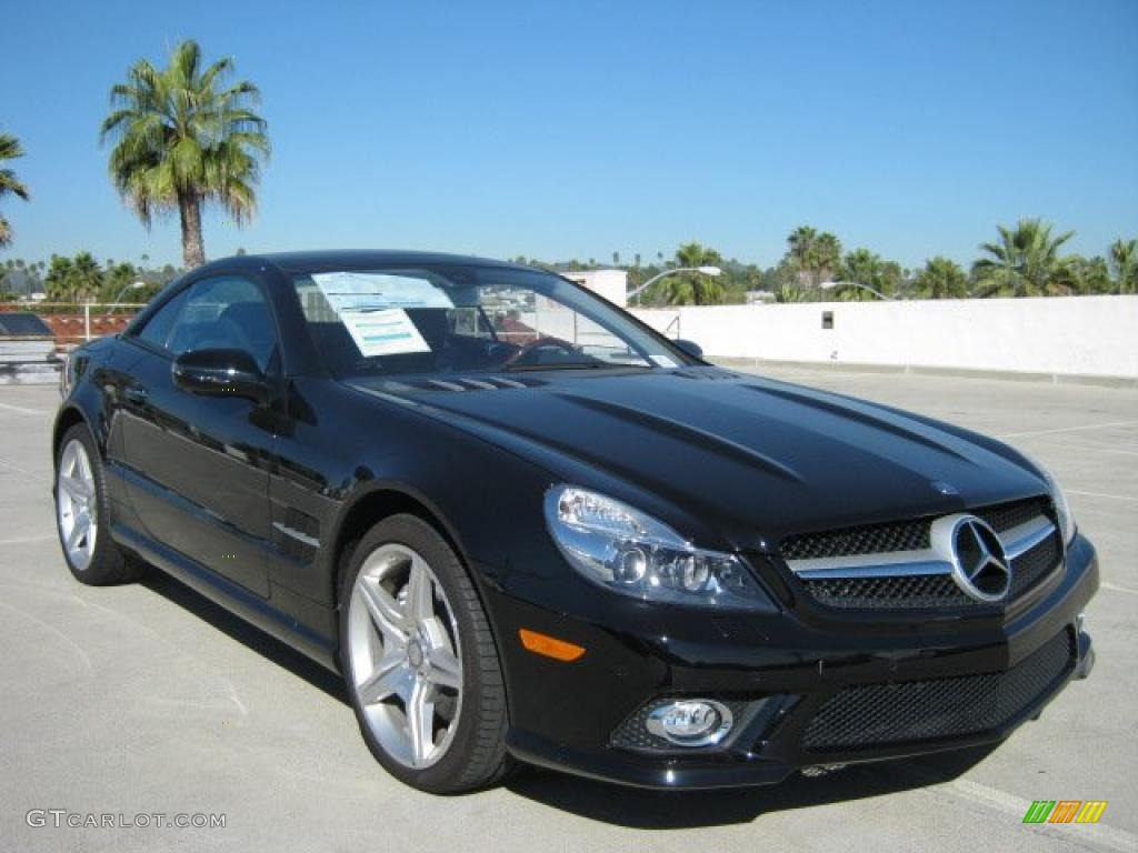 Black Mercedes-Benz SL