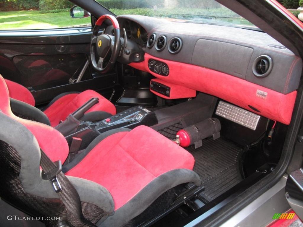 2004 Ferrari 360 Challenge Stradale F1 Red Black Dashboard