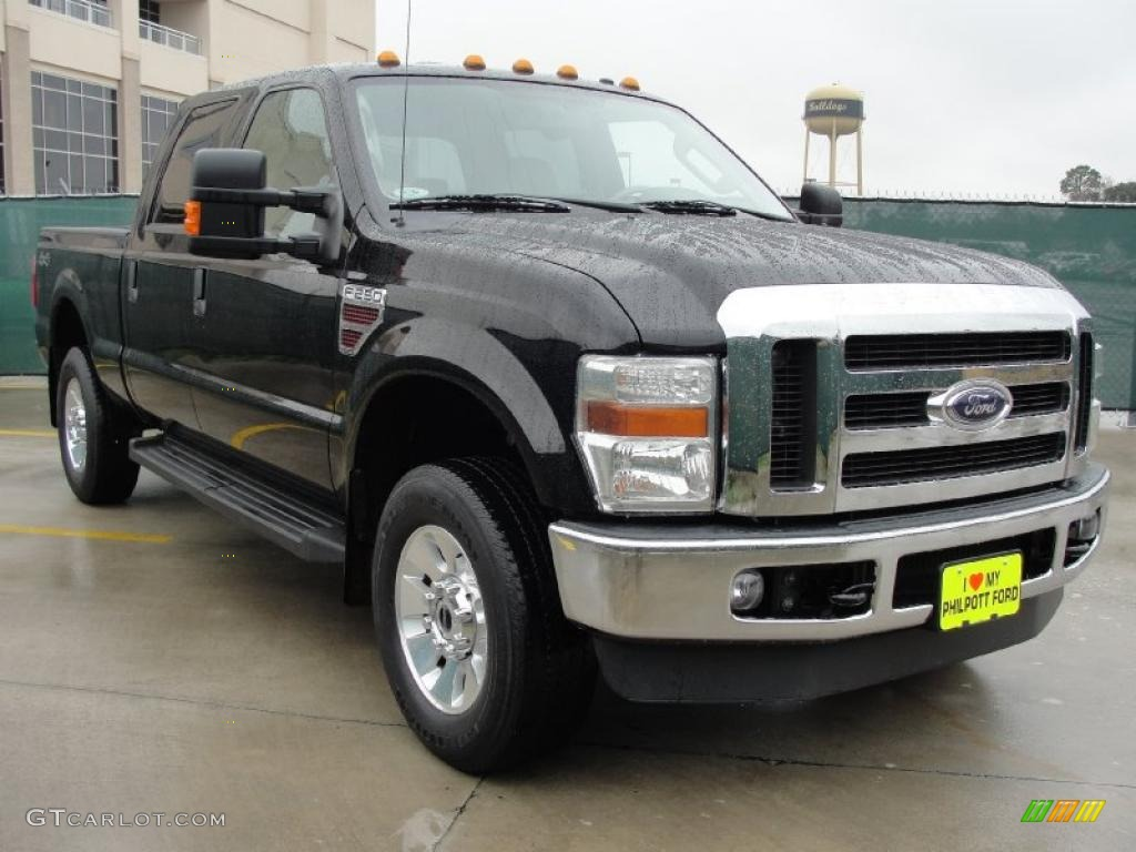 2008 black ford f250 super duty lariat crew cab 4x4 43254562 car color galleries. Black Bedroom Furniture Sets. Home Design Ideas