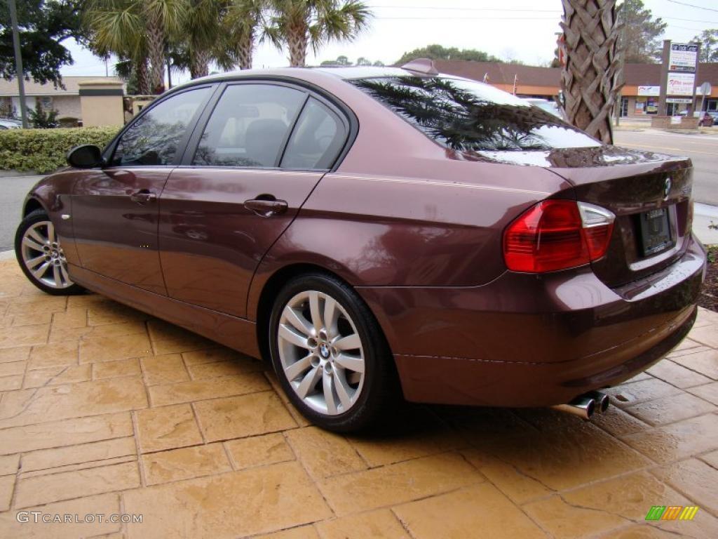 barrique red metallic 2006 bmw 3 series 325i sedan. Black Bedroom Furniture Sets. Home Design Ideas