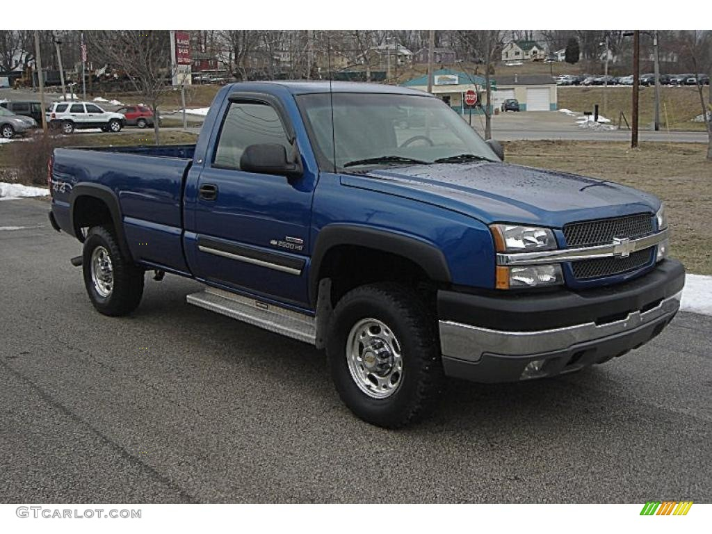 2003 arrival blue metallic chevrolet silverado 2500hd ls. Black Bedroom Furniture Sets. Home Design Ideas