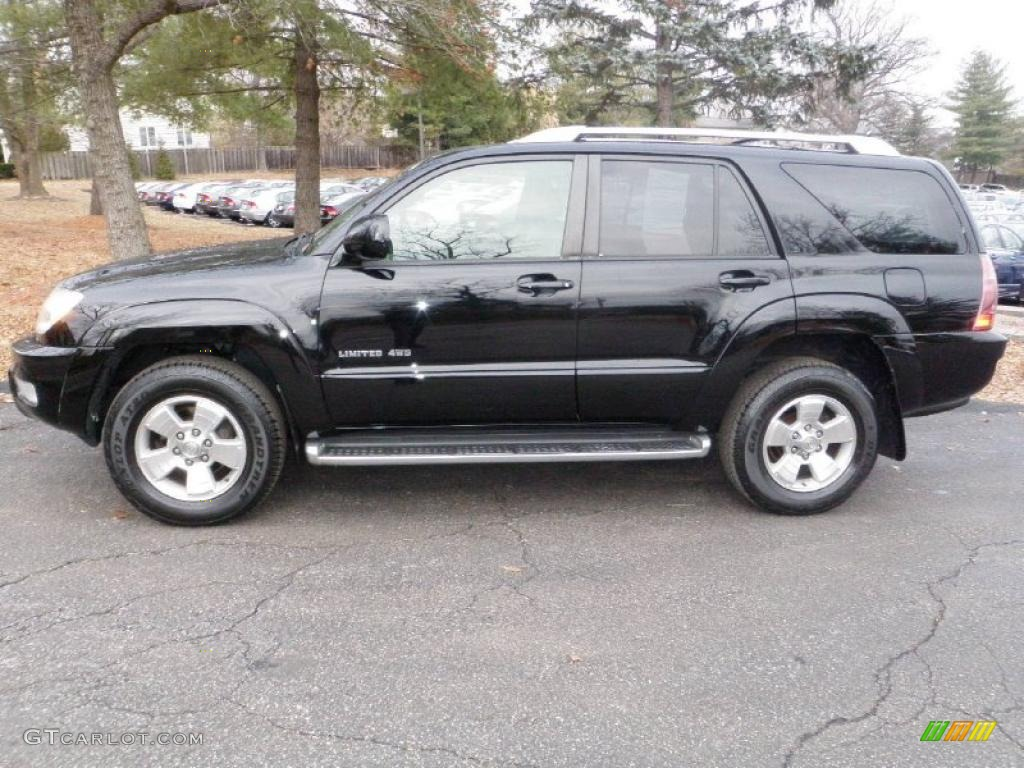 black 2004 toyota 4runner limited 4x4 exterior photo. Black Bedroom Furniture Sets. Home Design Ideas