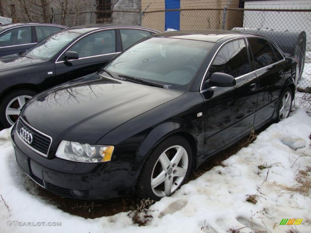 2003 brilliant black audi a4 3 0 quattro sedan 43338552 photo 2 car color. Black Bedroom Furniture Sets. Home Design Ideas