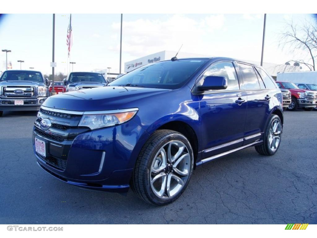 Kona Blue Metallic  Ford Edge Sport Exterior Photo