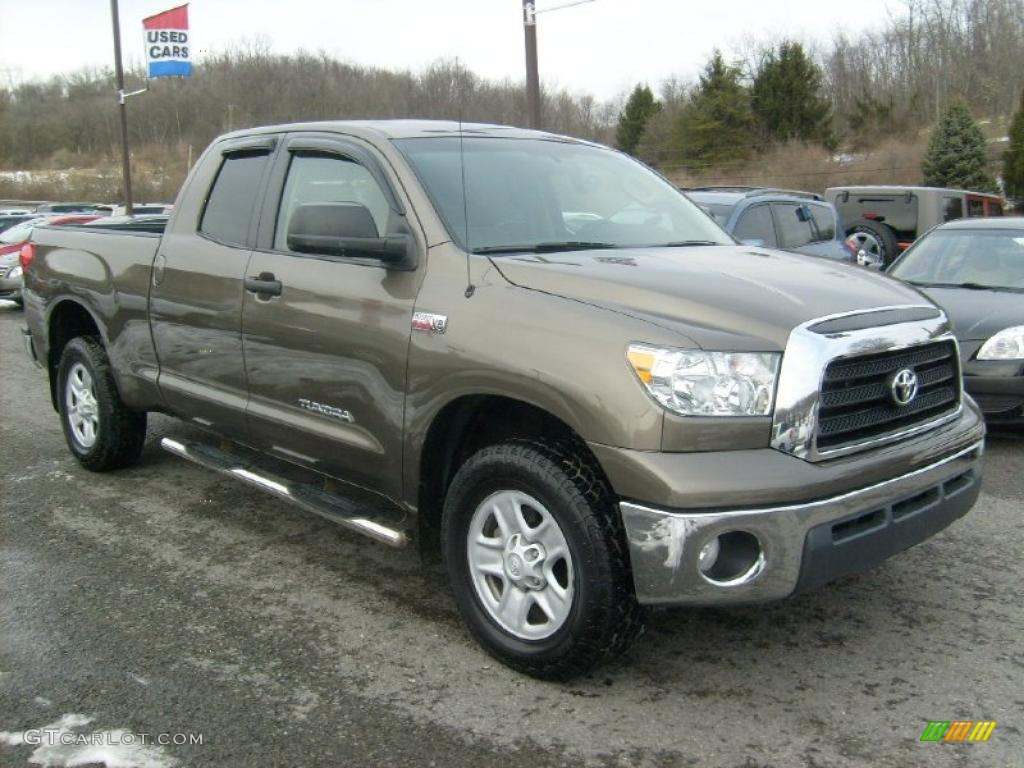pyrite tan mica 2009 toyota tundra double cab 4x4 exterior. Black Bedroom Furniture Sets. Home Design Ideas