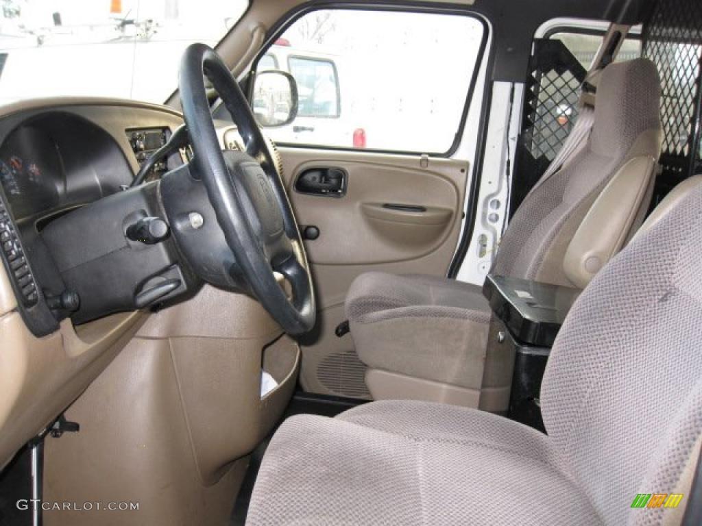 Camel Tan Interior 2001 Dodge Ram Van 2500 Commercial