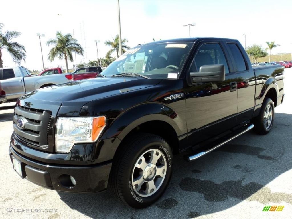 black 2009 ford f150 stx supercab exterior photo 43428001. Black Bedroom Furniture Sets. Home Design Ideas