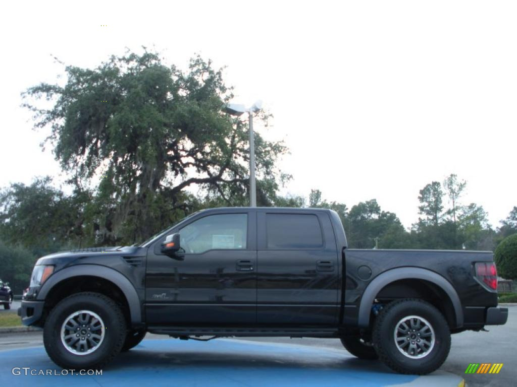 tuxedo black metallic 2011 ford f150 svt raptor supercrew 4x4 exterior photo 43436284. Black Bedroom Furniture Sets. Home Design Ideas