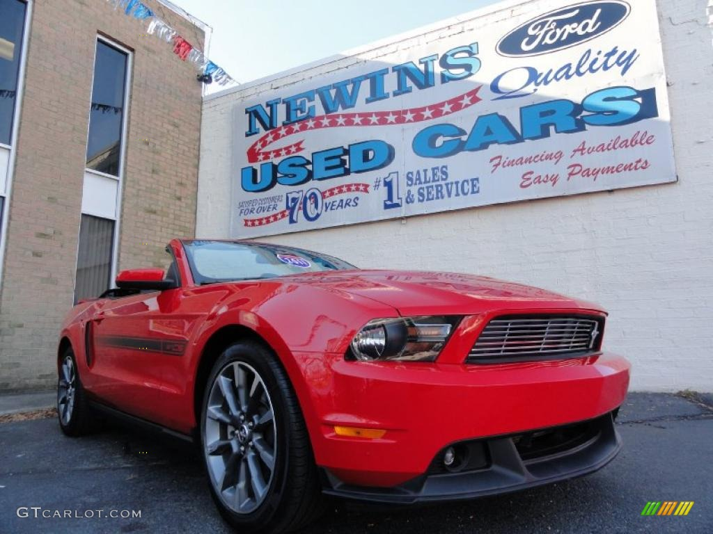 2011 Mustang GT/CS California Special Convertible - Race Red / Charcoal Black photo #1