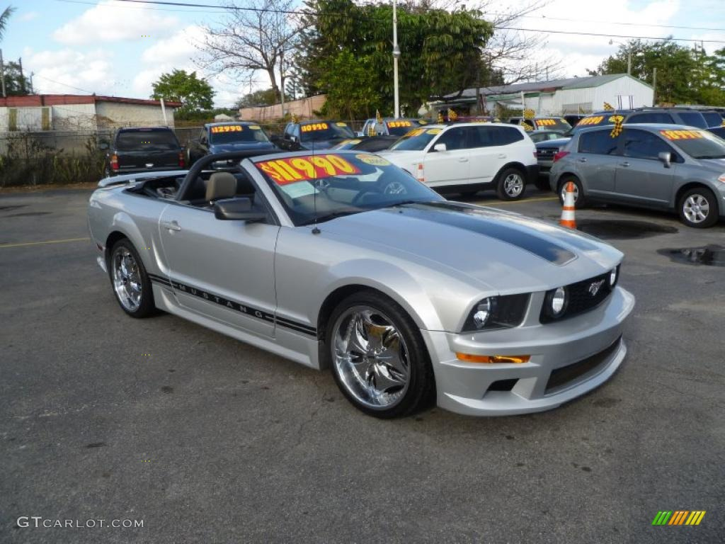 satin silver metallic 2005 ford mustang v6 deluxe. Black Bedroom Furniture Sets. Home Design Ideas