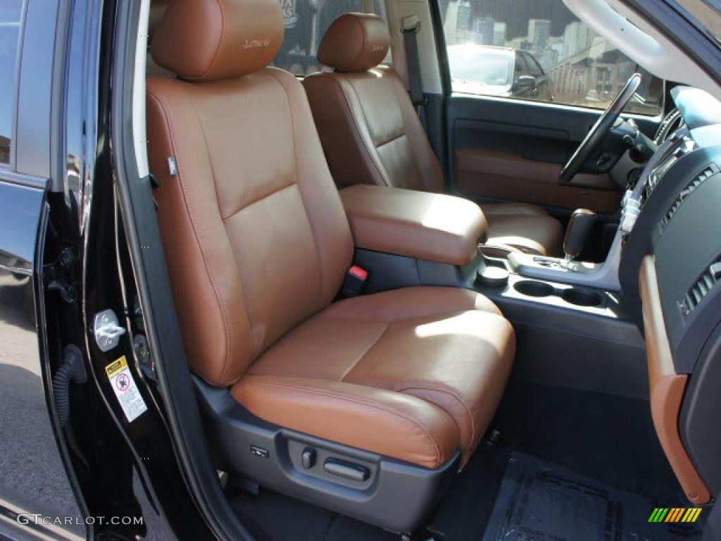 Red Rock Interior 2010 Toyota Tundra Limited Crewmax Photo