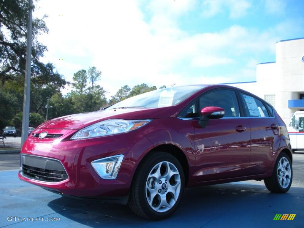 2011 bright magenta metallic ford fiesta ses hatchback 43440232 car color. Black Bedroom Furniture Sets. Home Design Ideas