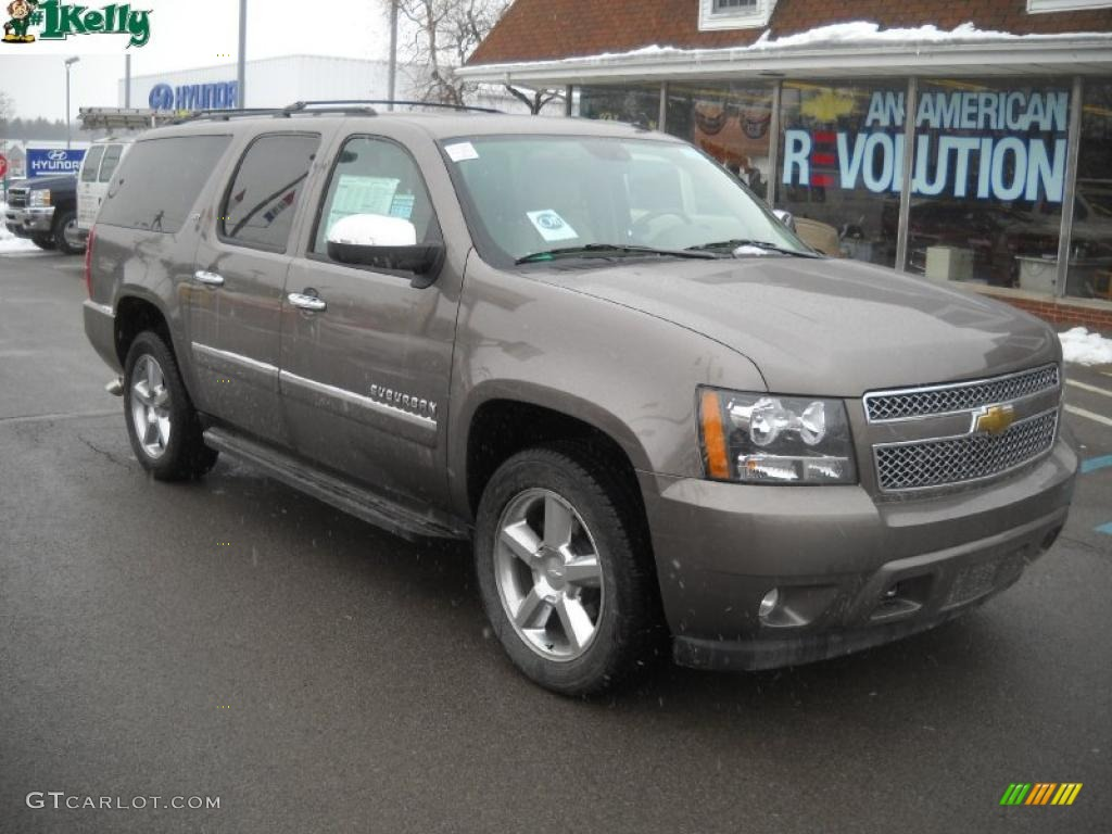 2011 mocha steel metallic chevrolet suburban ltz 4x4. Black Bedroom Furniture Sets. Home Design Ideas