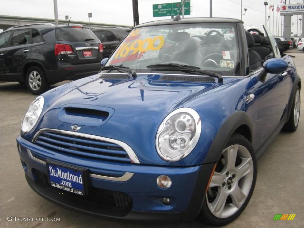hyper blue metallic 2005 mini cooper s convertible exterior photo 43553473. Black Bedroom Furniture Sets. Home Design Ideas