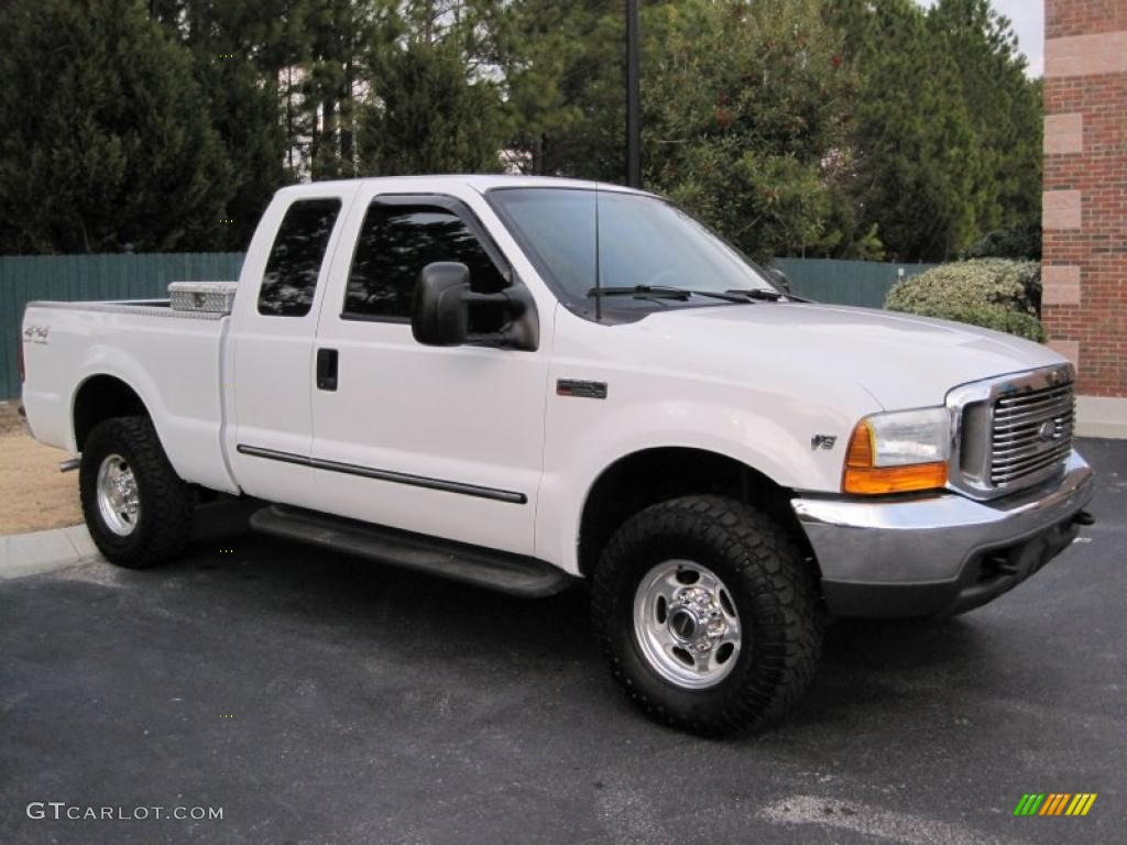 Oxford white 2000 ford f250 super duty lariat extended cab 4x4 exterior photo 43562110