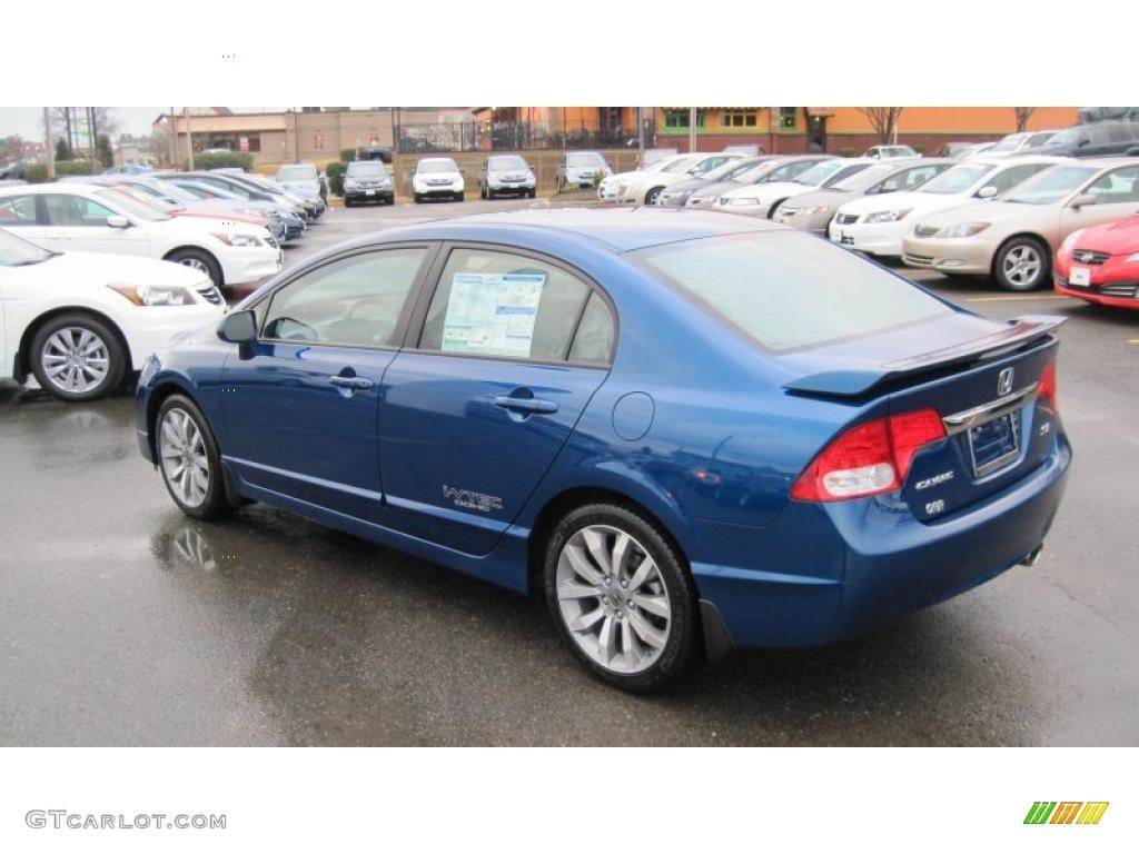 Dyno Blue Pearl 2011 Honda Civic Si Sedan Exterior Photo 43585383