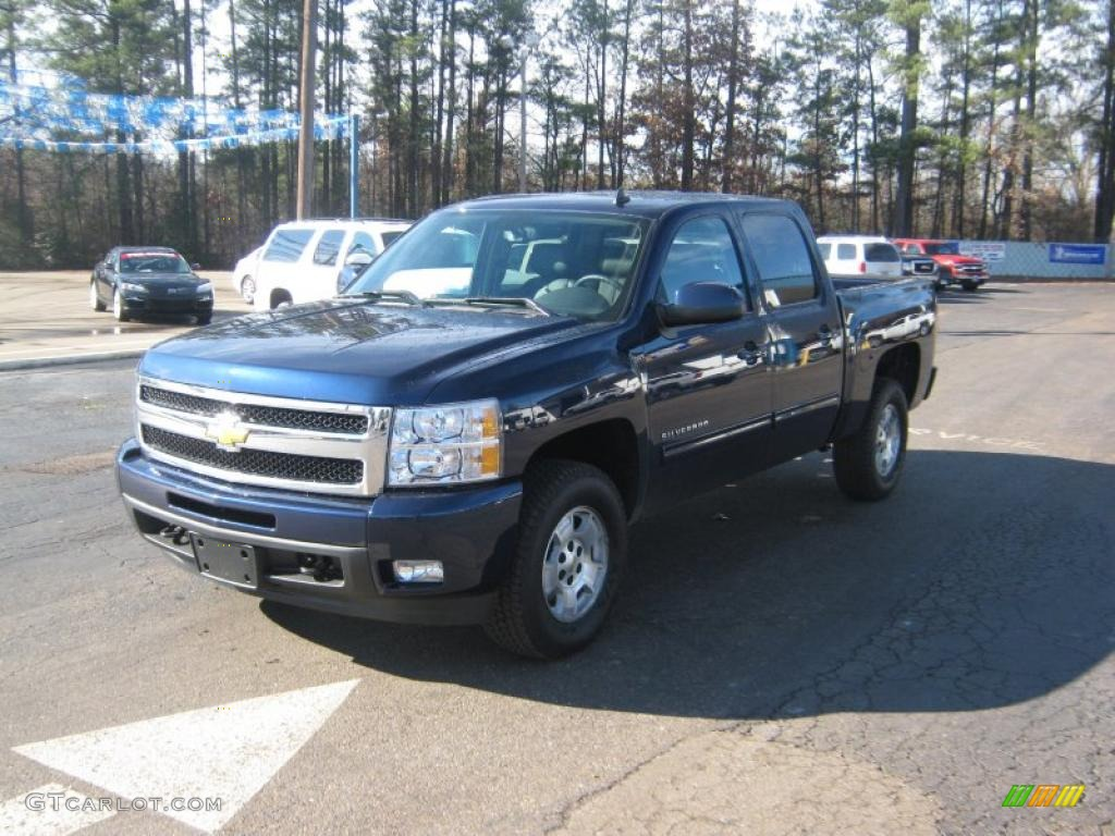 2011 Silverado 1500 LTZ Crew Cab 4x4 - Imperial Blue Metallic / Ebony photo #1