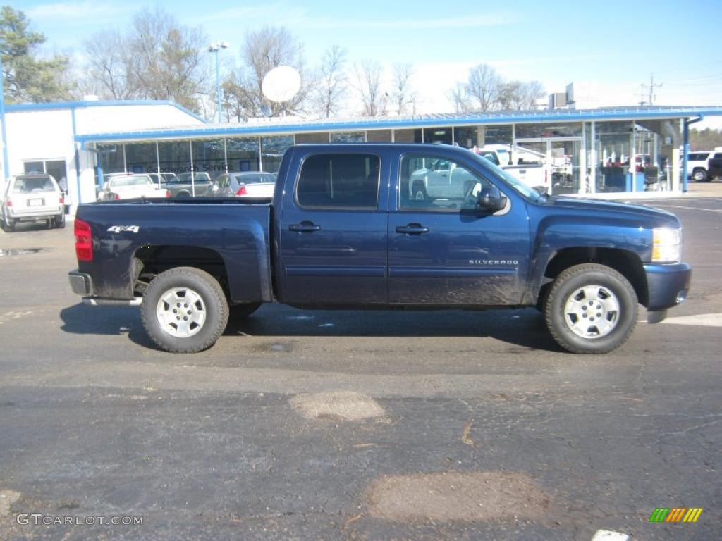 2011 Silverado 1500 LTZ Crew Cab 4x4 - Imperial Blue Metallic / Ebony photo #5