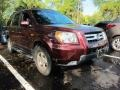 2007 Dark Cherry Pearl Honda Pilot EX-L  photo #1
