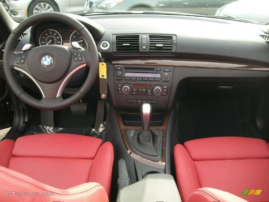 2010 bmw 1 series 128i convertible coral red boston leather dashboard photo 43628108
