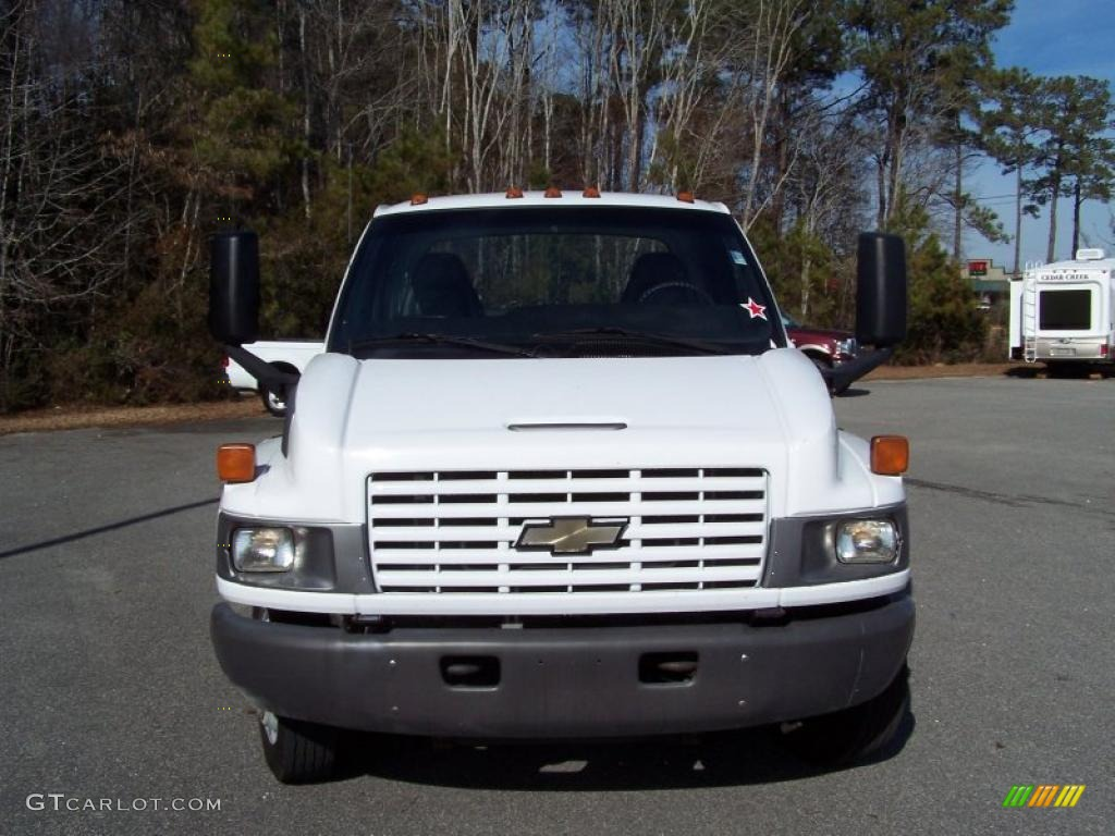 2004 C Series Kodiak C4500 Crew Cab Utility Dump Truck - Summit White / Black photo #2