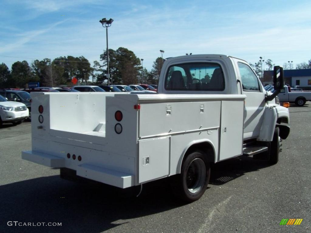 2004 C Series Kodiak C4500 Crew Cab Utility Dump Truck - Summit White / Black photo #5
