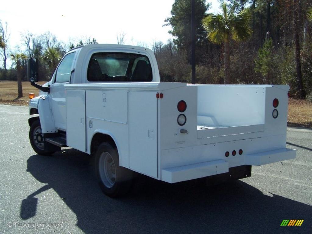 2004 C Series Kodiak C4500 Crew Cab Utility Dump Truck - Summit White / Black photo #7