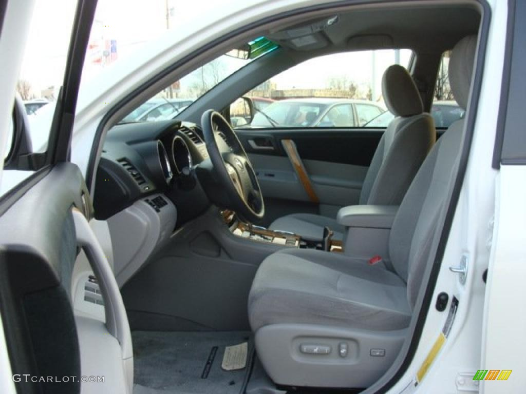 Ash Gray Interior 2008 Toyota Highlander Hybrid 4wd Photo 43642240