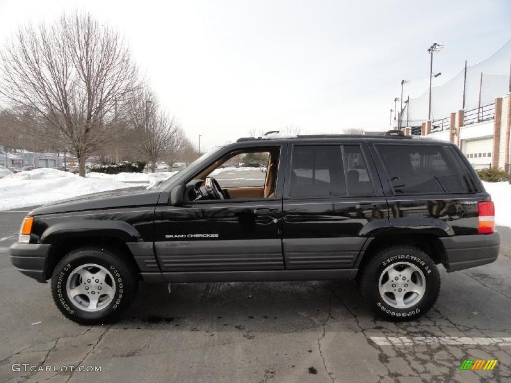 1997 black jeep grand cherokee laredo 4x4 #43647553 photo #3