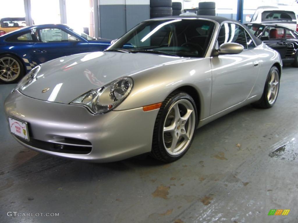 Arctic Silver Metallic 2003 Porsche 911 Carrera Cabriolet
