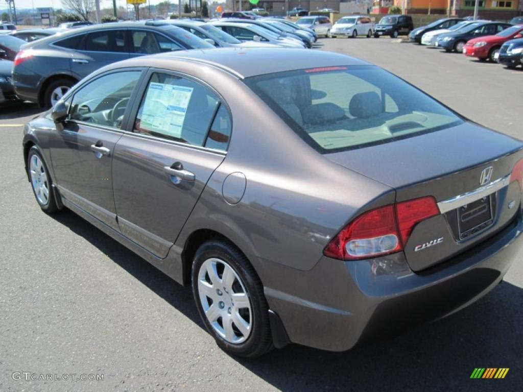 2011 Urban Titanium Metallic Honda Civic Lx Sedan