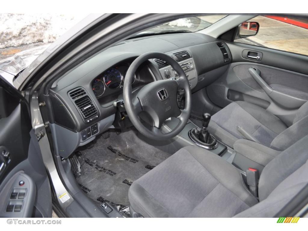 Gray Interior 2005 Honda Civic Hybrid Sedan Photo 43702552