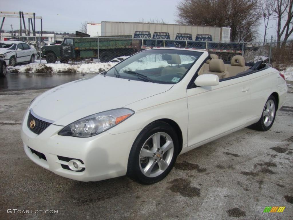 Blizzard white pearl 2007 toyota solara sle v6 convertible exterior photo 43741720 gtcarlot com